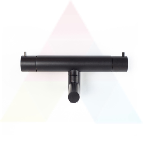 Hotbath Cobber B020 badthermostaat met draaibare uitloop mat zwart