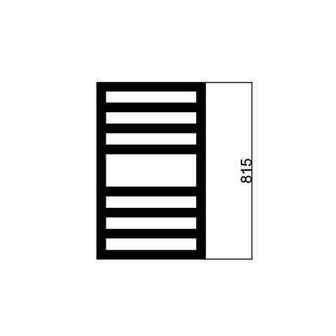 Das Square Space handdoekradiator 81,5x60cm (HxB) - 447W - Wit