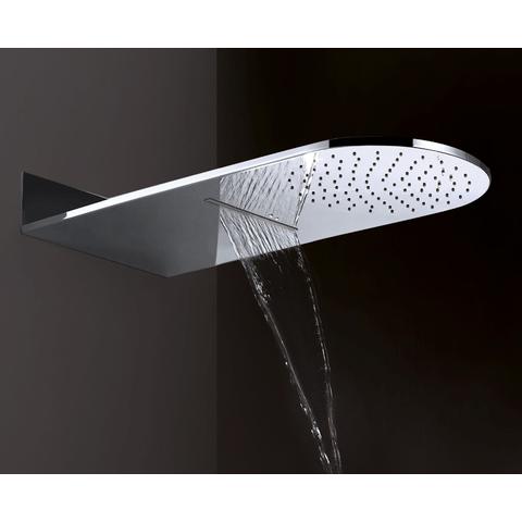 Wiesbaden Caral inbouw doucheset met waterval hoofddouche rond chroom