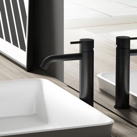 Hotbath Cobber CB003MC wastafelkraan medium mat-zwart