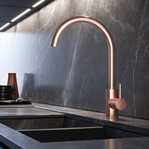 Hotbath Cobber CB040 keukenkraan geborsteld koper