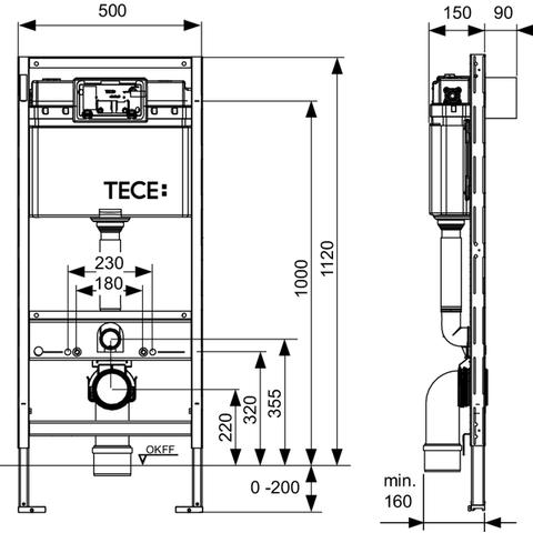 Villeroy & Boch Subway 2.0 DirectFlush toiletset met Tece reservoir/bedieningsplaat wit