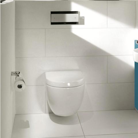 Villeroy & Boch Subway 2.0 toiletset CeramicPlus met Tece reservoir/bedieningsplaat mat-chroom