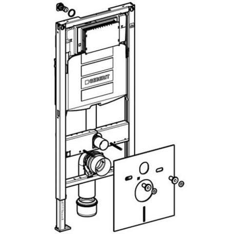 Villeroy & Boch O.novo toiletset met Geberit UP320 reservoir/bedieningsplaat glans-wit
