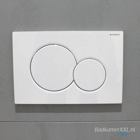 Villeroy & Boch O.novo toiletset Compact met Geberit ruimtewinnend reservoir/bedieningsplaat glans-wit