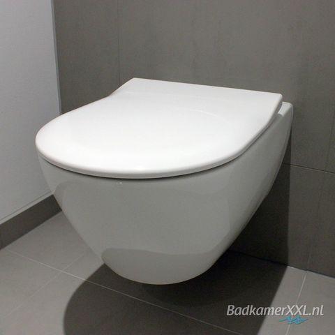 Villeroy & Boch Subway 2.0 toiletset CeramicPlus met Geberit UP320 reservoir/bedieningsplaat mat-chroom