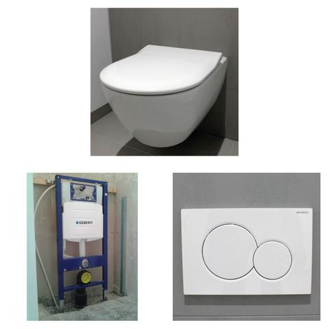 Villeroy & Boch Subway 2.0 toiletset DirectFlush met Geberit UP320 reservoir/bedieningsplaat glans-wit