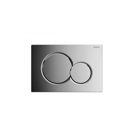 Villeroy & Boch Subway 2.0 toiletset Compact DirectFlush met Geberit ruimtewinnend reservoir/bedieningsplaat glans-chroom