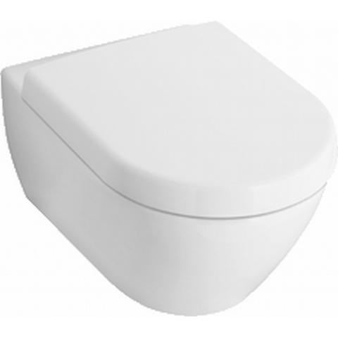Villeroy & Boch Subway 2.0 toiletset Compact DirectFlush CeramicPlus met Geberit ruimtewinnend reservoir/bedieningsplaat mat-chroom