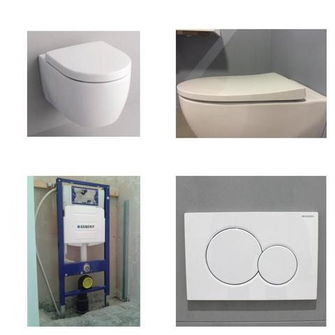 c2ebddd6983 Sphinx 345 toiletset met Geberit UP320 reservoir/bedieningsplaat glans-wit