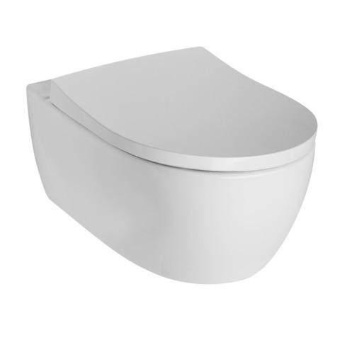Geberit Icon toiletset Rimfree met UP320 reservoir/bedieningsplaat mat-chroom