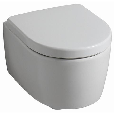 Geberit Icon toiletset Compact met ruimtewinnend reservoir/bedieningsplaat glans-wit