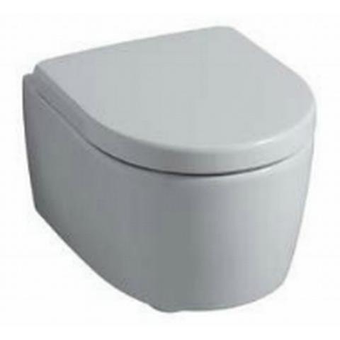 Geberit Icon toiletset Compact Rimfree met ruimtewinnend reservoir/bedieningsplaat glans-wit