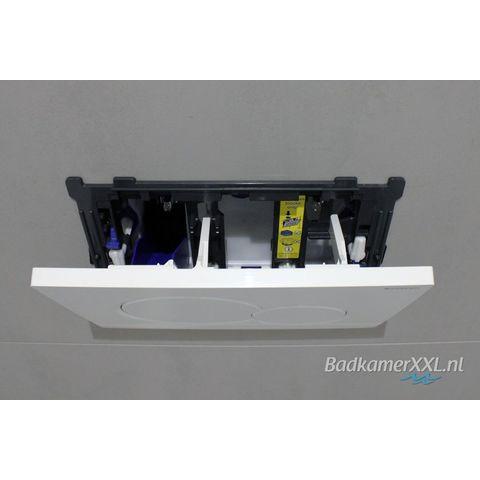 Wiesbaden Vesta toiletset Rimless - met SlimSeat zitting - met Geberit UP320 reservoir/bedieningsplaat glans-wit