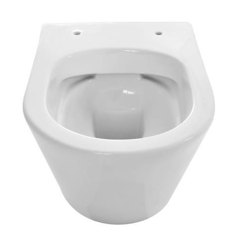 Wiesbaden Vesta toiletset Compact Rimless - met standaard zitting - met Geberit UP320 reservoir/bedieningsplaat mat-chroom