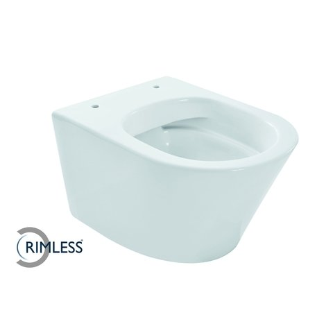 Wiesbaden Vesta toiletset Compact Rimless - met SlimSeat zitting - met Geberit UP320 reservoir/bedieningsplaat mat-chroom