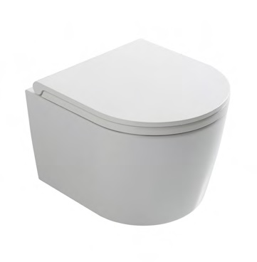 Globo Forty3 hangtoilet verkort 43cm met Softclosing zitting - glans wit