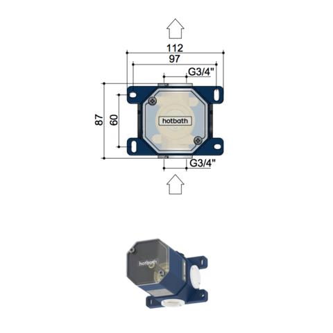Hotbath HB010 inbouwbox