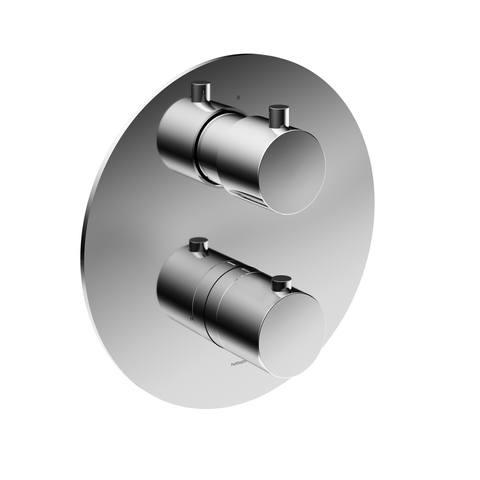 Hotbath Cobber CB009EXT afbouwdeel voor inbouw thermostaat met 2-weg omstel chroom