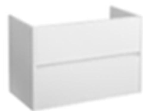 Blinq Capital badmeubel 60cm mat-wit - 2 lades - met Furiosa wastafel