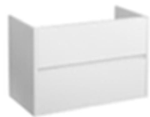 Blinq Capital badmeubel 80cm mat-wit - 2 lades - met Furiosa wastafel