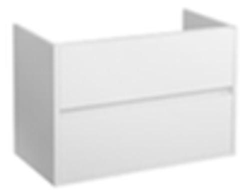 Blinq Capital badmeubel 100cm mat-wit - 2 lades - met Furiosa wastafel
