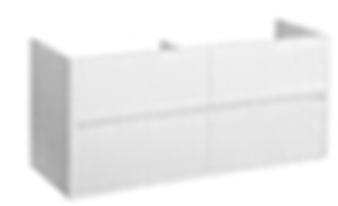 Blinq Capital badmeubel 120cm mat-wit - 4 lades - met dubbele Furiosa wastafel