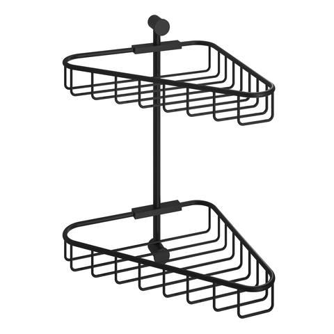 Hotbath Cobber CBA14 hoekdraadkorf dubbel mat zwart