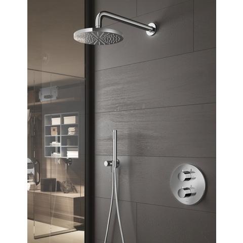 Hotbath IBS 1A Get Together inbouw doucheset Buddy - chroom - met staafhanddouche - 25cm hoofddouche - met plafondbuis 30cm - met glijstang