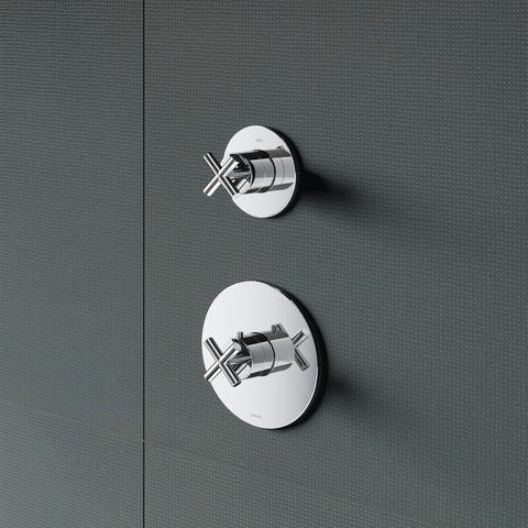 Hotbath Chap C012EXT afbouwdeel voor inbouw thermostaat met 1 stopkraan chroom