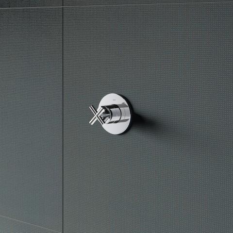 Hotbath Chap C010EXT afbouwdeel voor inbouw stopkraan chroom