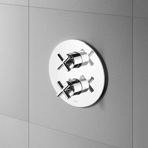Hotbath Chap C009 Inbouw thermostaat met 2-weg stop-omstel chroom