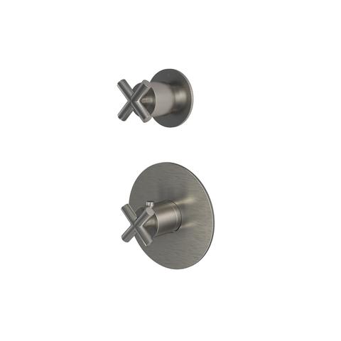 Hotbath Chap C012 inbouw thermostaat met 1 stopkraan geborsteld nikkel