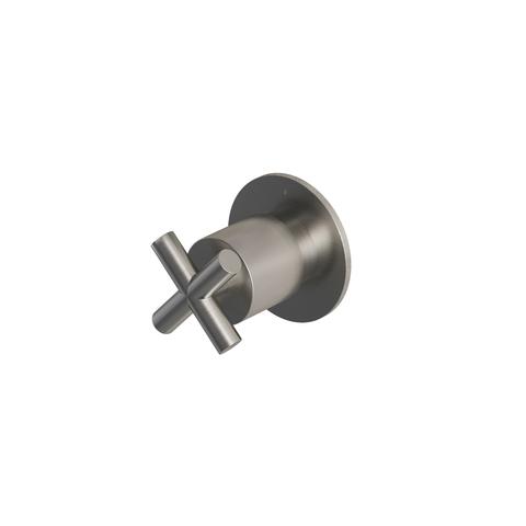 Hotbath Chap C010 Inbouw stopkraan geborsteld nikkel