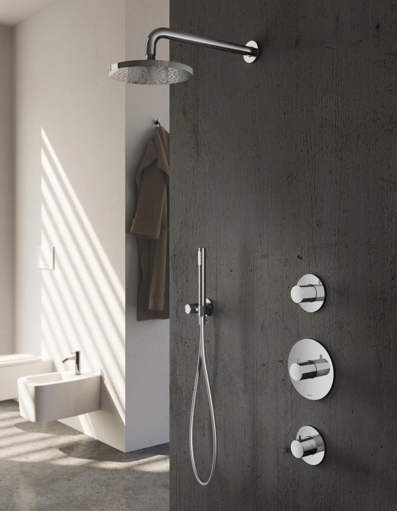 Hotbath IBS 1 Get Together inbouw doucheset Buddy - chroom - met staafhanddouche - 20cm hoofddouche - met wandarm - zonder glijstang