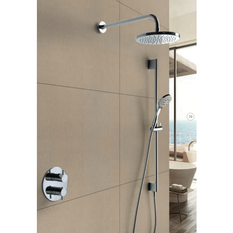 Hotbath IBS 2RA Get Together inbouw doucheset Laddy rond - chroom - met staafhanddouche - 20cm hoofddouche - met plafondbuis 30cm - met glijstang