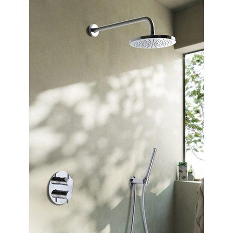 Hotbath IBS 2RA Get Together inbouw doucheset Laddy rond - chroom - met staafhanddouche - 25cm hoofddouche - met plafondbuis 15cm - zonder glijstang