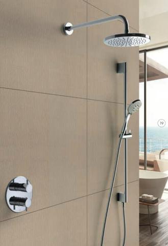 Hotbath IBS 2RA Get Together inbouw doucheset Laddy rond - chroom - met staafhanddouche - 25cm hoofddouche - met plafondbuis 30cm - zonder glijstang