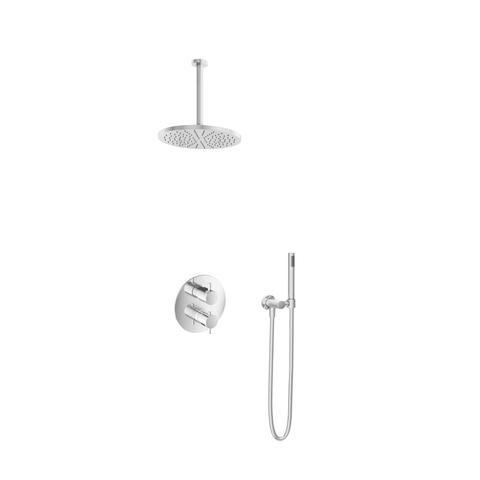Hotbath IBS 2RA Get Together inbouw doucheset Laddy rond - chroom - met staafhanddouche - 30cm hoofddouche - met plafondbuis 30cm - zonder glijstang
