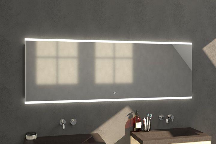 Bewonen Twinlight Led spiegel 200x70cm - met touch knop