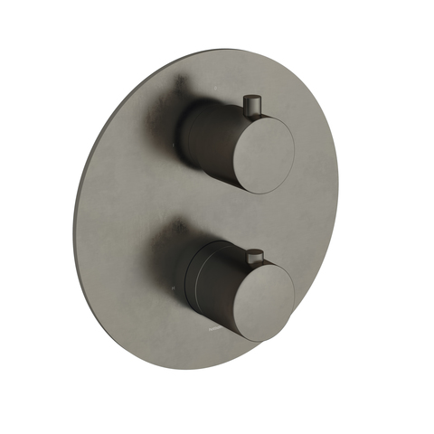Hotbath Cobber CB009EXT afbouwdeel voor inbouw thermostaat met 2-weg omstel verouderd ijzer