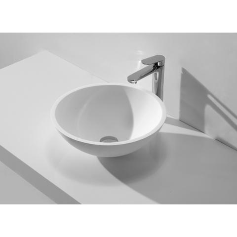 Wiesbaden Round Solid Surface opzetwastafel 43cm