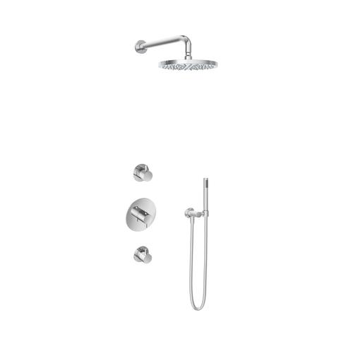 Hotbath IBS 2R Get Together inbouw doucheset Laddy rond - chroom - met staafhanddouche - 25cm hoofddouche - met wandarm - zonder glijstang