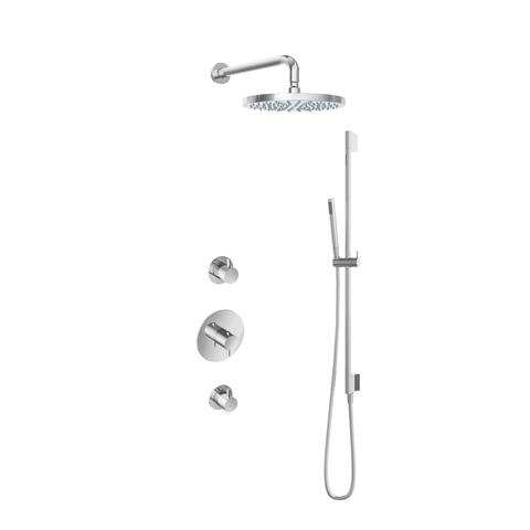 Hotbath IBS 2R Get Together inbouw doucheset Laddy rond - chroom - met staafhanddouche - 30cm hoofddouche - met wandarm - met glijstang