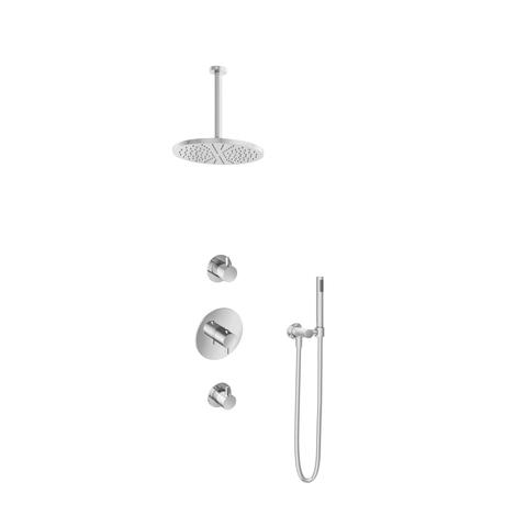 Hotbath IBS 2R Get Together inbouw doucheset Laddy rond - chroom - met staafhanddouche - 30cm hoofddouche - met plafondbuis 30cm - zonder glijstang