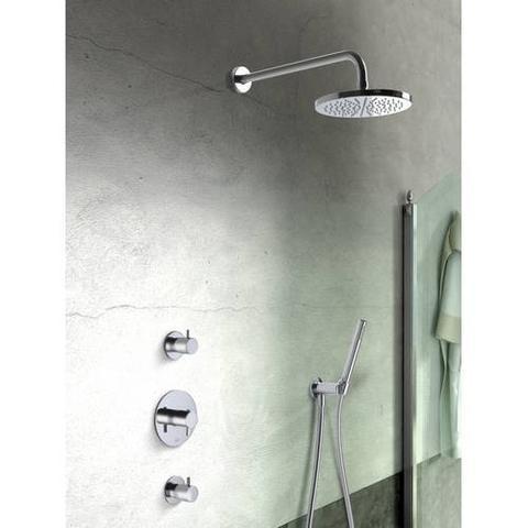Hotbath IBS 2R Get Together inbouw doucheset Laddy rond - chroom - met ronde 3 standen handdouche - 25cm hoofddouche - met plafondbuis 30cm - met glijstang
