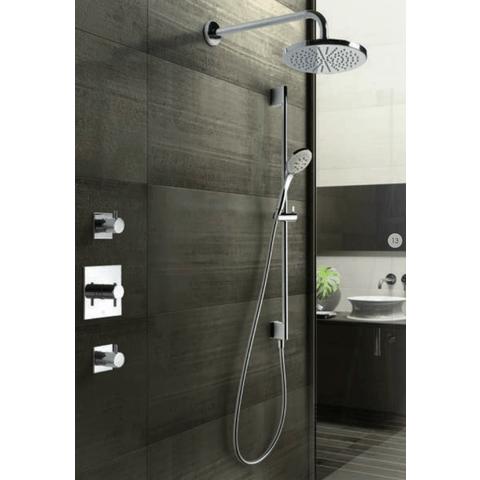 Hotbath IBS 2 Get Together inbouw doucheset Laddy vierkant - chroom - met ronde 3 standen handdouche - 20cm hoofddouche - met plafondbuis 30cm - met glijstang