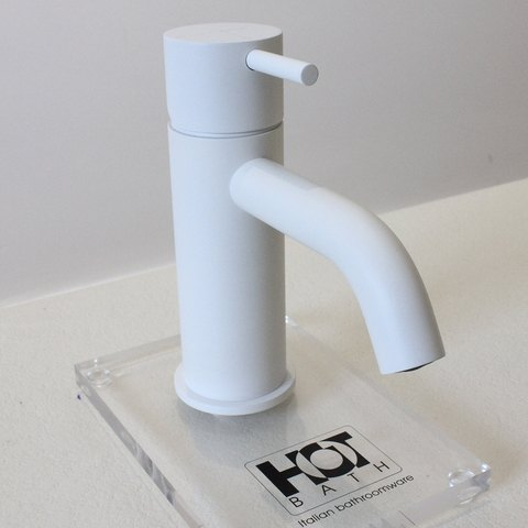 Hotbath Cobber CB003C wastafelkraan mat wit