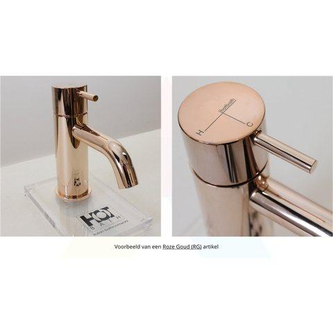 Hotbath Cobber CB003MC wastafelkraan medium roze goud