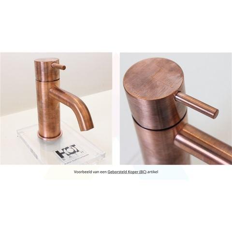 Hotbath Cobber CB003HC wastafelkraan hoog geborsteld koper